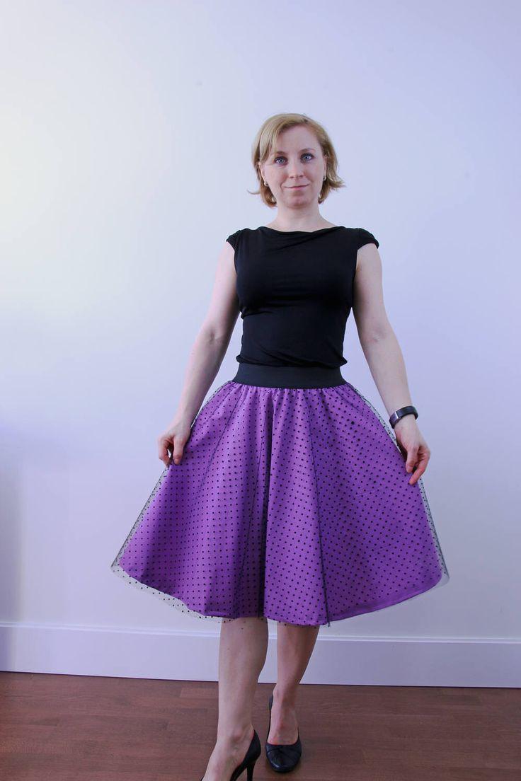 Purple tulle circle skirt, women skirt, evening skirt, prom skirt, pinup clothing, skater skirt, knee length skirt, celebration outfit by ElzahDesign on Etsy https://www.etsy.com/uk/listing/508984702/purple-tulle-circle-skirt-women-skirt