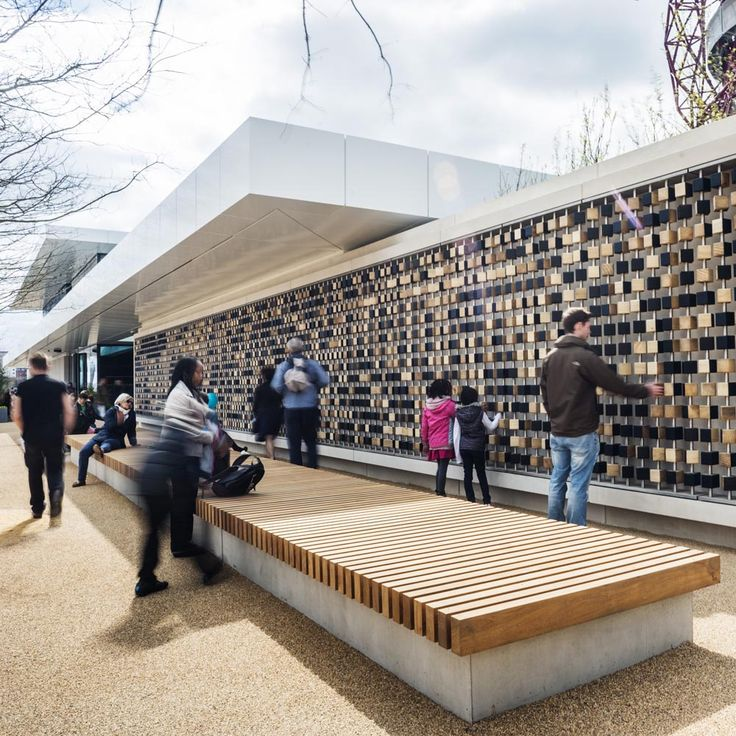 The Podium by Make Architects in Stratford, London, UK. Pocket ParkUrban  FurnitureStreet ...