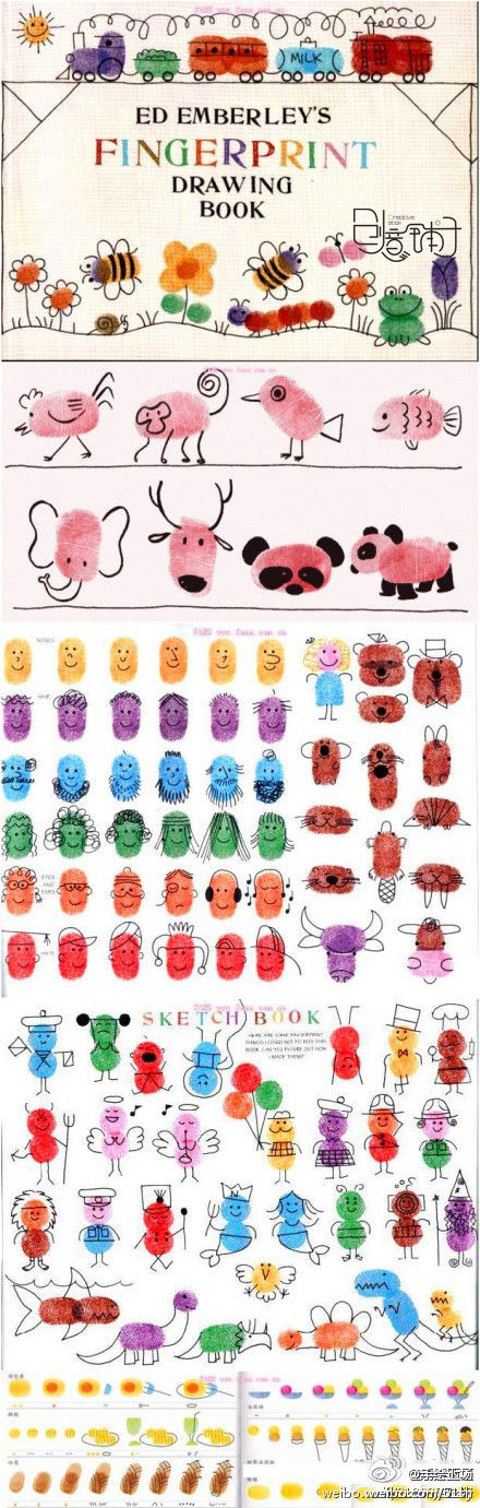 We have this book at work and I love it just as much as the kids do!! We've spent hours drawing things from this book with our finger prints!! So much fun and cool!!