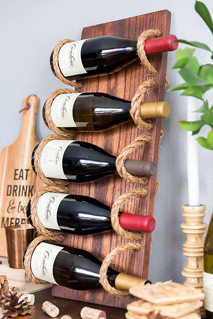 Oltre 25 fantastiche idee su portabottiglie per vino fai - Portabottiglie in legno fai da te ...