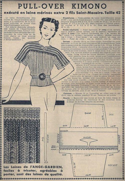 Le Petit Écho de la Mode - 25 juillet 1937 http://isabellurette.tumblr.com/archive