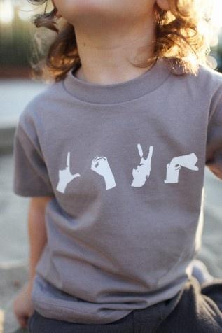 L.O.V.E.: Kids S Baby, Kids Stuff, Gifts Ideas, Baby Design, Fashion Baby, Shirts Unisex, Gordina Stuff, Signs Language, Kidstuff