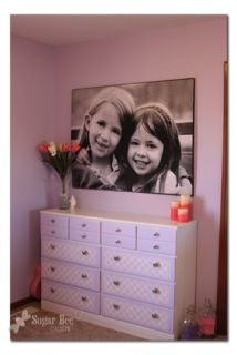 DIY Inexpensive Giant Picture... could be a perfect way to sports pics for the man cave.