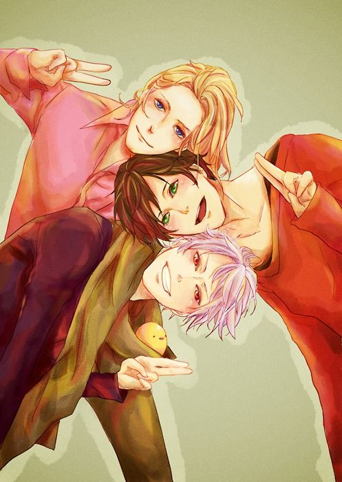 Spain, France and Prussia- i present to you: the Bad Touch Trio~!