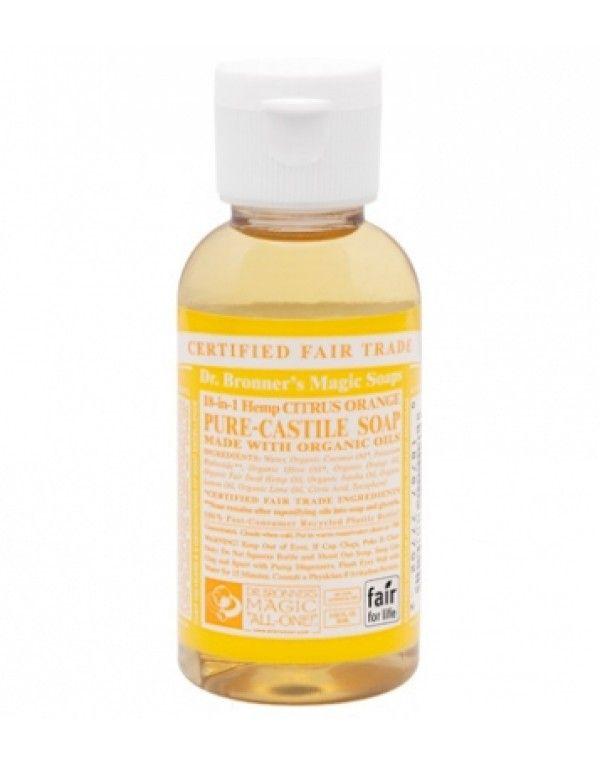 Dr. Bronner's Flytende Såpe Citrus Orange, reisestørrelse, 59 ml