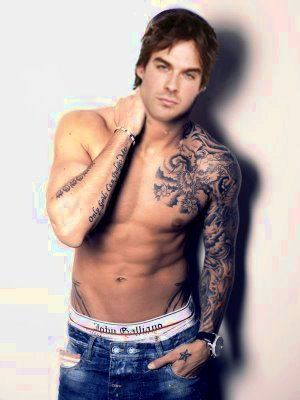 Damon vampire diaries oh my all that wasted effort for Fake tattoo sleeves toronto