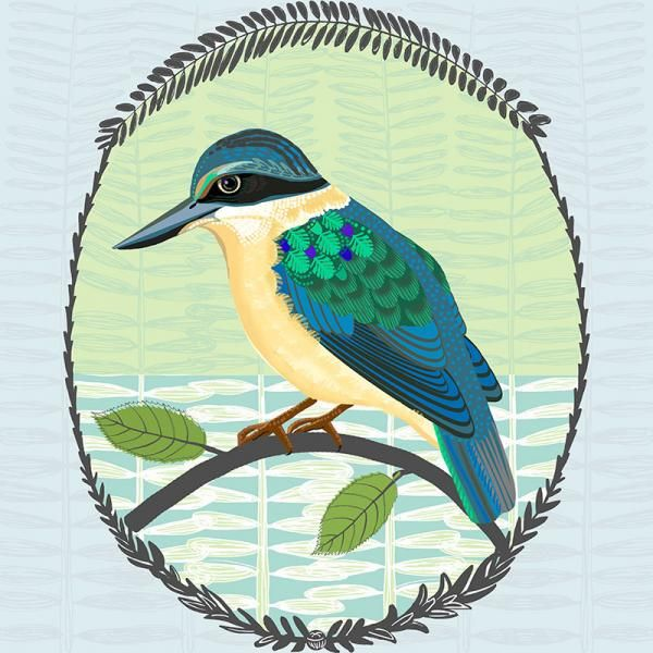 Missing You Kotare, New Zealand Folk birds series Edition of 45 From NZ$145