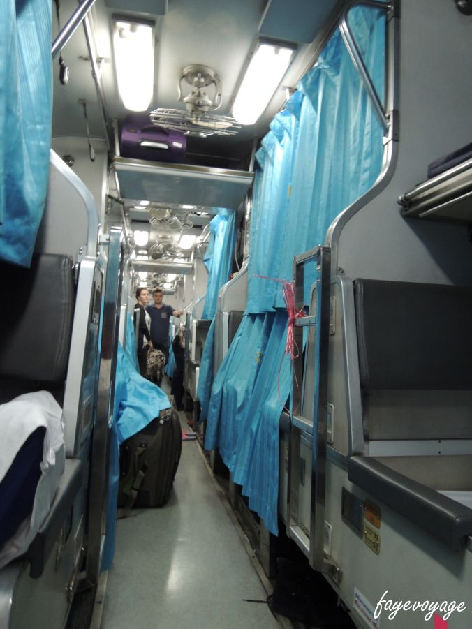 22 hour overnight train journey from Malaysia to Bangkok