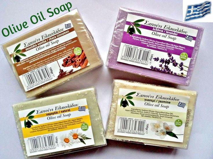 Olive Oil Soap Greek Organic Pure Handmade Face & Body Shampoo 100 gr #Handmade