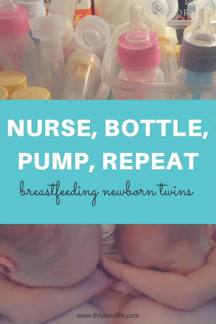 Nurse, Bottle, Pump, Repeat: Breastfeeding Newborn Twins. A look into the first few weeks of nursing newborn twins, including how I pumped to establish my supply, how we supplemented for the first few weeks, and how our journey with breastfeeding went.