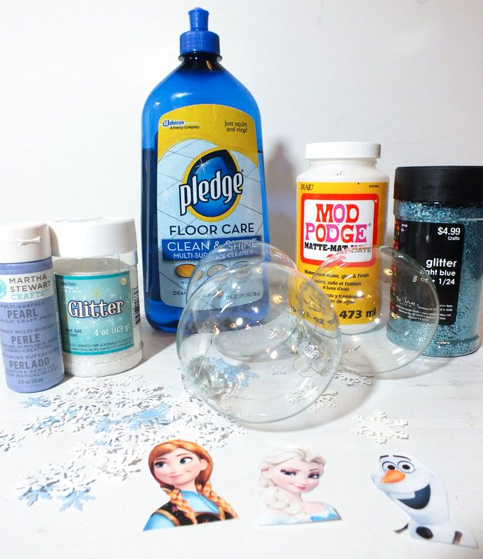 Frozen Christmas Ornaments supplies