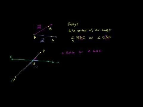 Angle basics | Angles and intersecting lines | Geometry | Khan Academy - YouTube
