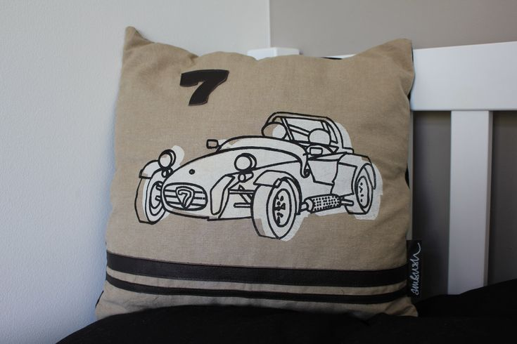 A personal favourite from my Etsy shop https://www.etsy.com/uk/listing/99668176/caterham-car-retro-screen-printed