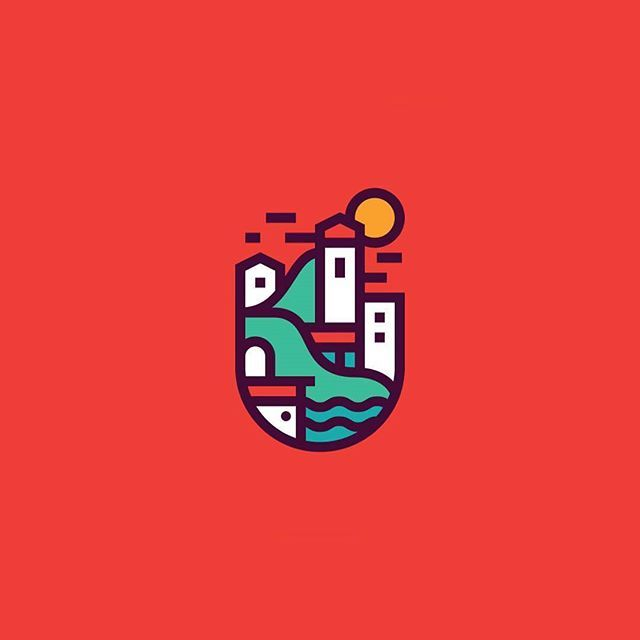 Logo Inspiration City By The Sea By Justinpervorse Hire Quality Logo And Branding Designers At Twine Line Art Design Graphic Design Blog Graphic Design Logo
