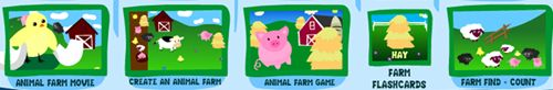learning colors/farm interactive web-page