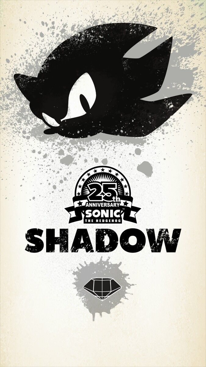 25th Anniversary Sonic the Hedgehog--Shadow wallpaper