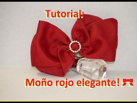 Como hacer un moño rojo elegante! [57] - YouTube