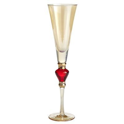 Amber Luster with Red Jewel Stemware