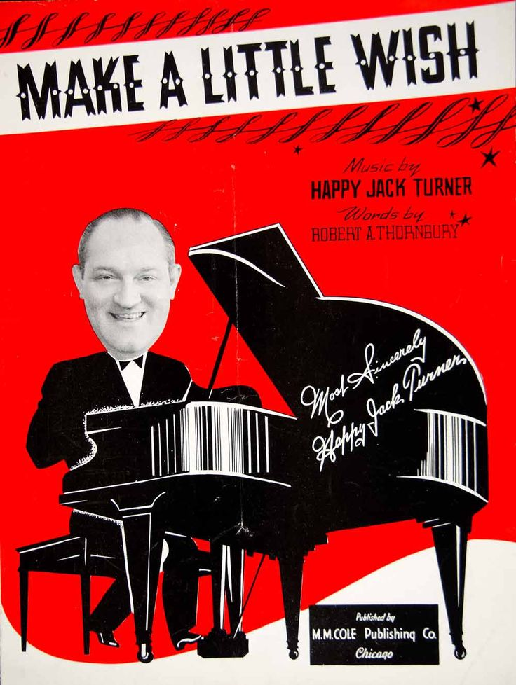 1942 Sheet Music Make A Little Wish Happy Jack Turner Song