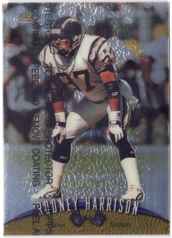 1998 Finest #86 San Diego Chargers Rodney Harrison