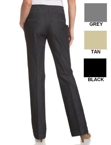 Unique  Gray Stretch Charcoal Business Women39s Size 4 Dress Pants 89  EBay
