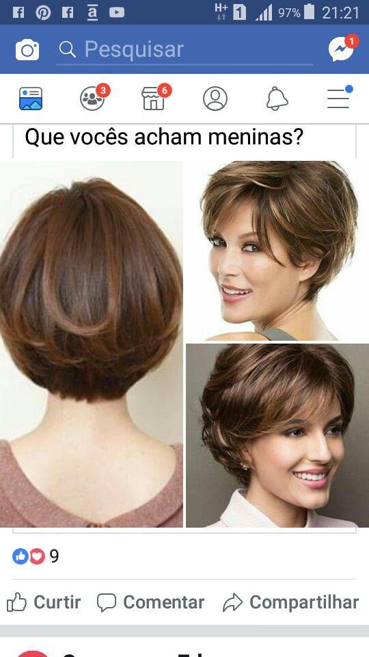 Cabelo curto   – Причёски