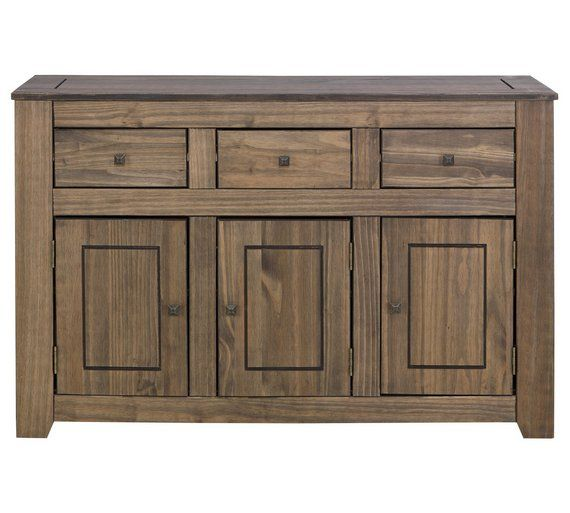 Buy HOME Amersham Large Solid Wood Sideboard - Dark Pine at Argos.co.uk, visit Argos.co.uk to shop online for Sideboards and dressers, Living room furniture, Home and garden
