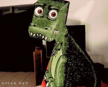 Este pequeño cocodrilo de cartón no te quitará los ojos de encima, hasta que descubras su secreto.