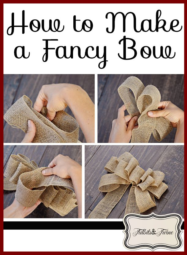 Tidbits&Twine - How to make a decorative fancy bow tutorial. Step-by-step instructions and pictures