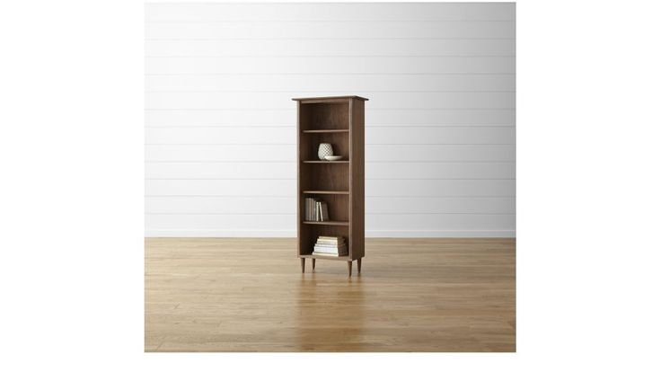 Kendall Walnut Bookcase | Crate and Barrel