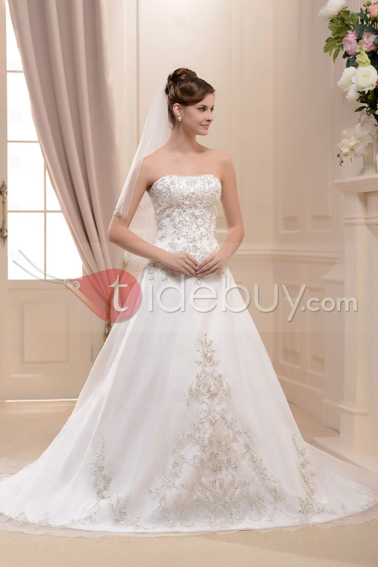 55 best images on pinterest wedding dressses amazing a lineprincess strapless cathedral bridal gown ombrellifo Image collections