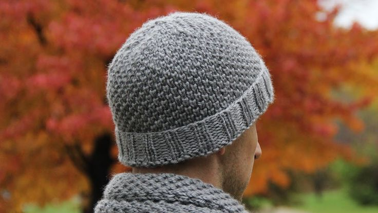 How to knit men's hat - video tutorial with detailed instructions.