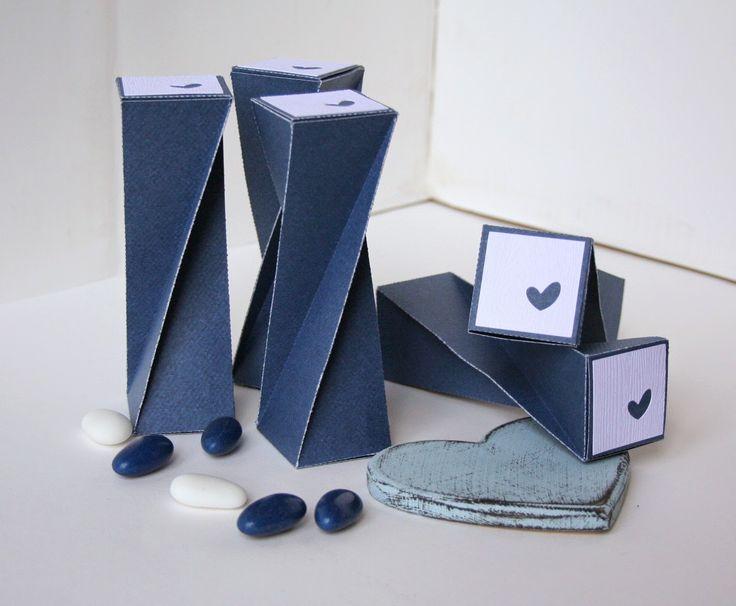 LO SCRAPBOOKING DI VERONICA: Comunione di Alessandro - le scatoline portaconfetti