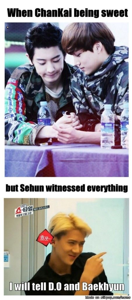 Oh Sehun.... *Whacks him over head with memory erase stick* You will forget that ever happened