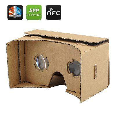 3D Cardboard VR Γυαλιά ΟΕΜ με Μαύρο Μαγνήτη για Smartphone