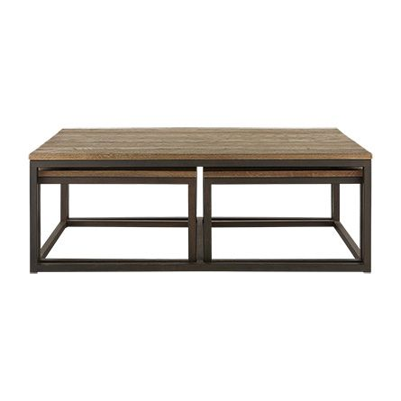 Palmer Nesting Coffee Table Set In Bali Brown Clean