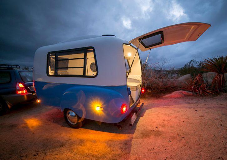HC1 camper at night