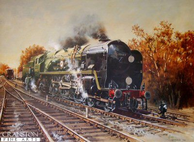steam trains painting Ready to Roll by Terence Cuneo. - Cranston Fine Arts Aviation, Military and Naval Art www.military-art.com Ready to Roll by Terence Cuneo.