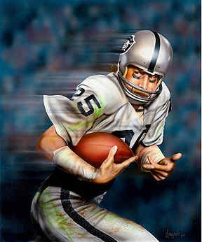 Fred Biletnikoff Oakland Raiders Football Sports Art Print