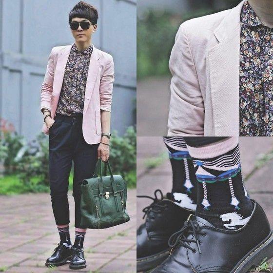 Asos Blazer, Dr. Martens Shoes, 3.1 Phillip Lim Bags, Tastemaker Pants, Cacti Park Shirt