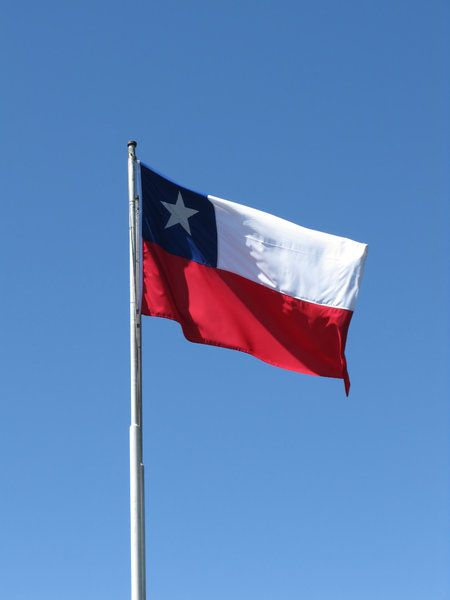 Chilean Flag. Although I'm North American, I always felt at home in Chile.