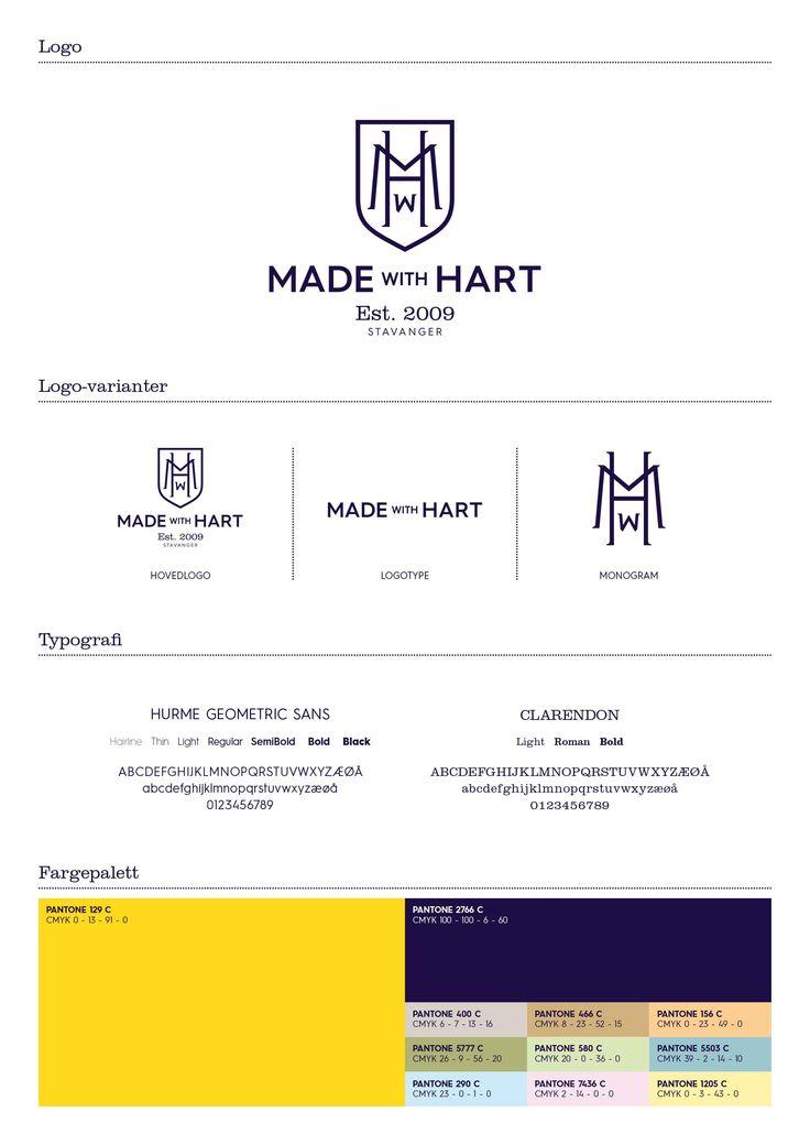 Made with Hart –alias Mathias Made Wijk og Alexander Hart –tilbyr målsøm for menn og kvinner. Forretningen er innbydende, fargerik, spennende og eksklusiv. Kvalitet og tradisjon står i sentrum for kolleksjonen av skreddersydde klær.  Da vi skulle oppgradere logoen og etablere en helhetlig grafisk profil, la vi vekt på å gjenspeile tradisjonelle kvaliteter som assosieres med skreddersøm. Derfor ble den nye logoen som et klassisk monogram med initialene MwH.  Samtidig var det vikti...