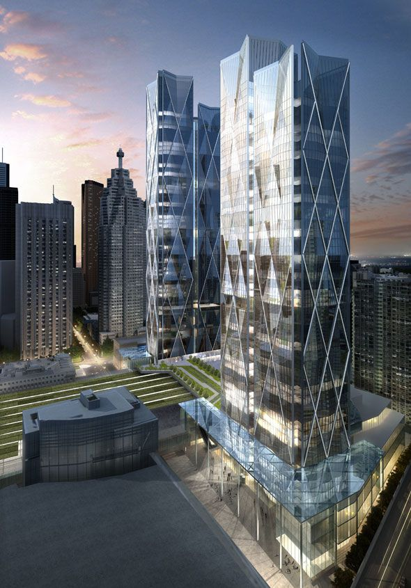 45-141 Street Toronto A massive 8-acre, $2 billion downtown office development that will include a new GO Transit bus terminal, two 48-storey towers, and an elevated park over the Union Station rail corridor.