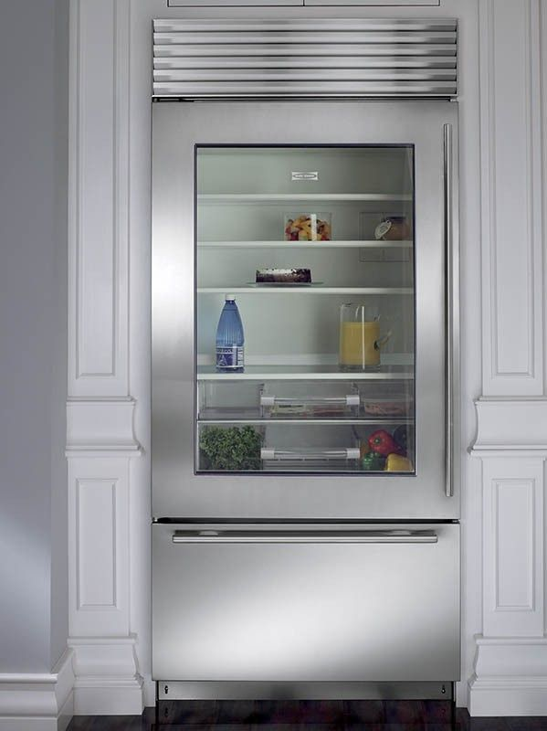 Image Result For Sub Zero Glass Front Refrigerator Kitchen