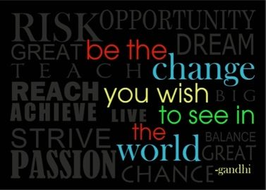 This is a real card (not an e-card) shared from Sendcere. be the change you wish to see in the world - Gandhi #inspiration #encouragement #Ghandi #cards