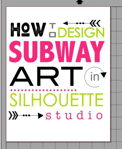 Secret to Easily Designing Subway Art in Silhouette Studio ~ Silhouette School