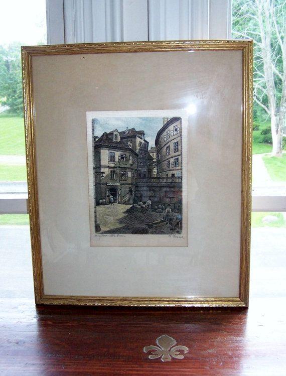 Vintage 1940's H Lersch Heinrich German Silk by Artdecogirlshop, $250.00