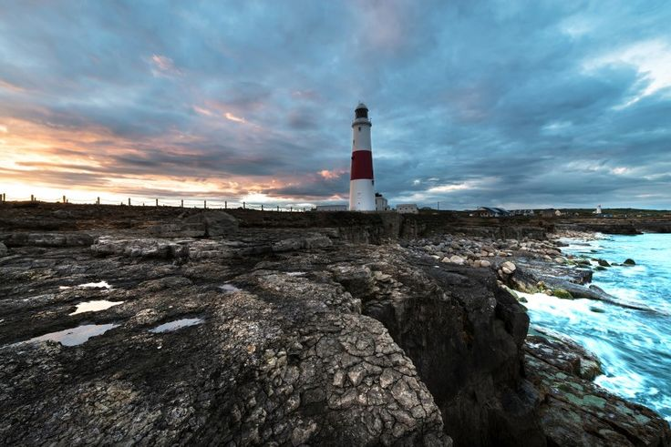Turbulent skies over Portland Bill at the days' end