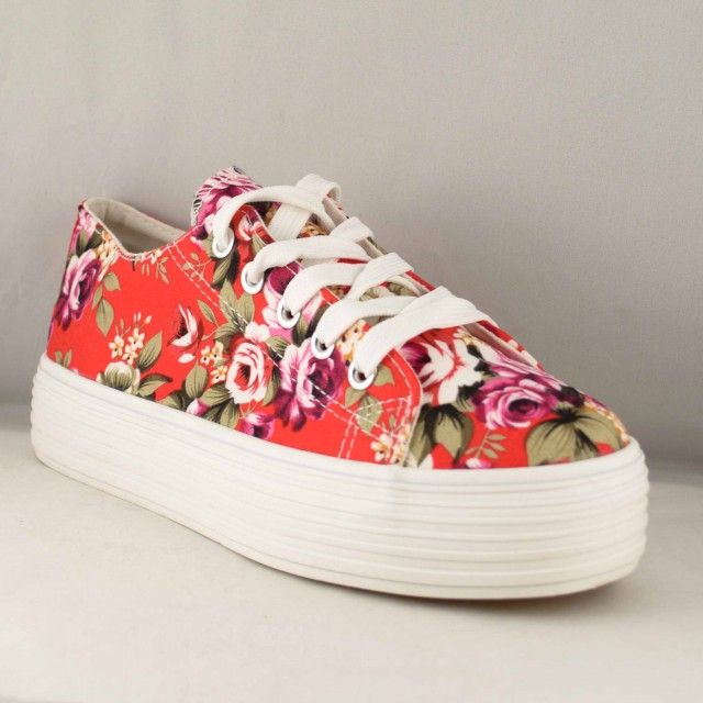 Poze Tenisi Dama Red Flower 2016
