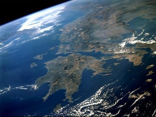 Greece from satelite